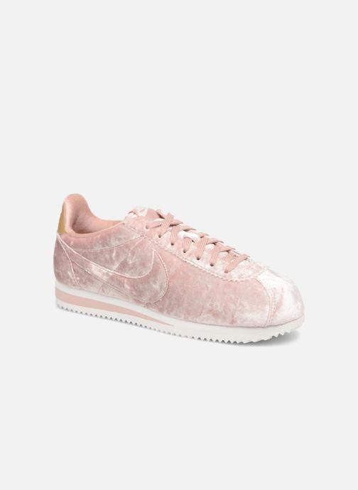 Sneakers Nike Cortez Velvet Pink detaljeret billede af skoene