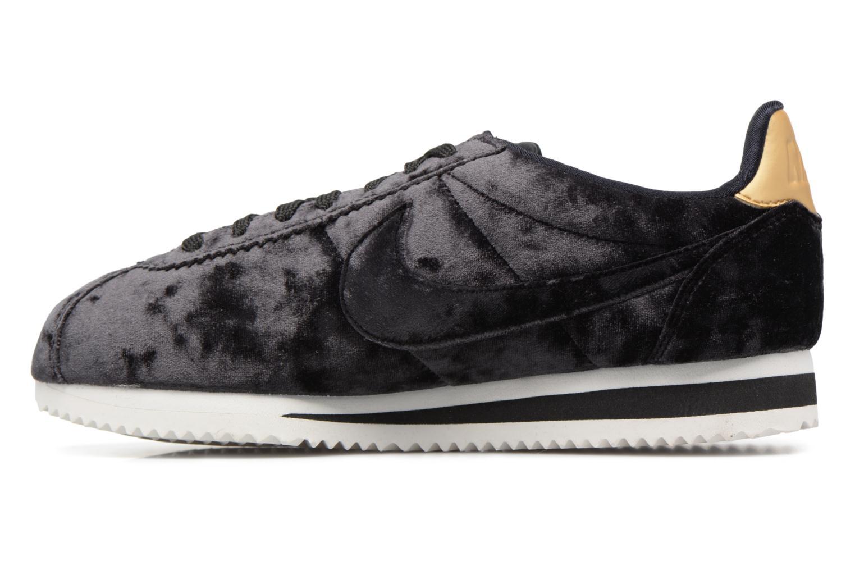 Baskets Nike Cortez Velvet Noir vue face