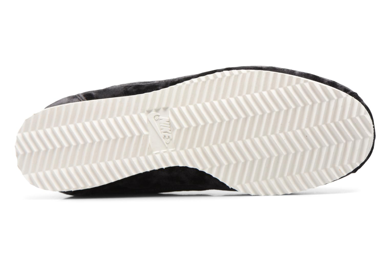 Baskets Nike Cortez Velvet Noir vue haut