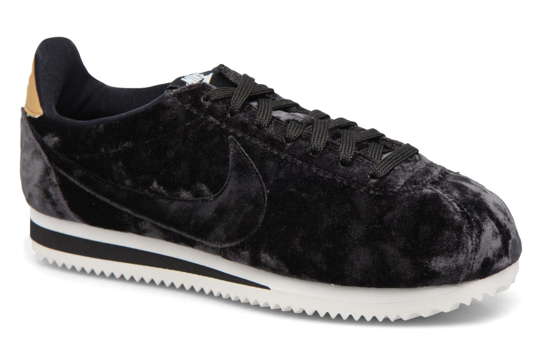 Baskets Nike Cortez Velvet Noir vue détail/paire