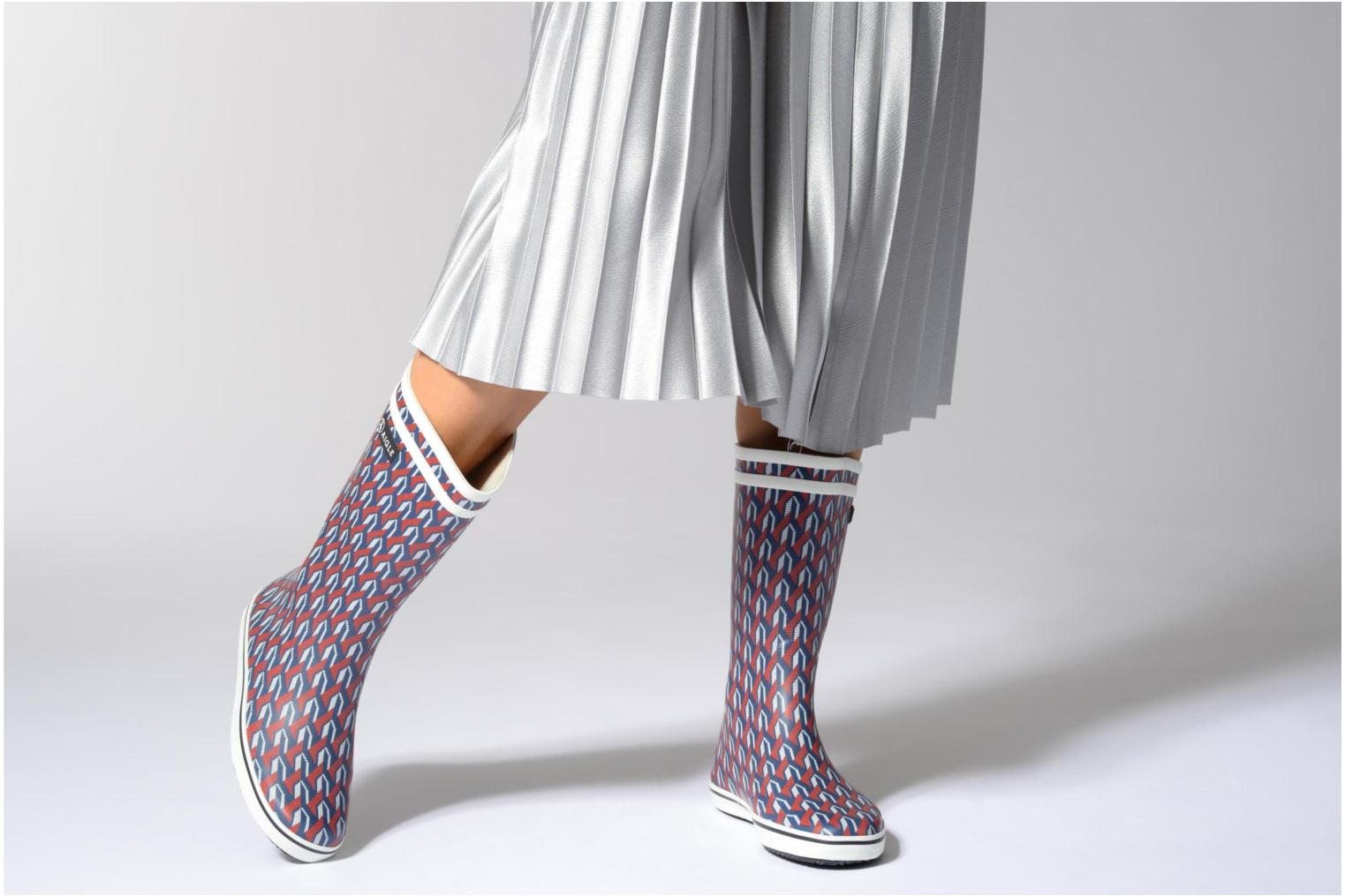 Boots & wellies Aigle Malouine AIGLE x SARENZA Multicolor view from underneath / model view