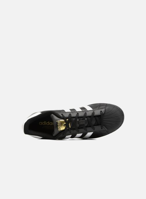 Trainers adidas originals Adidas Superstar Foundation W Black view from the left