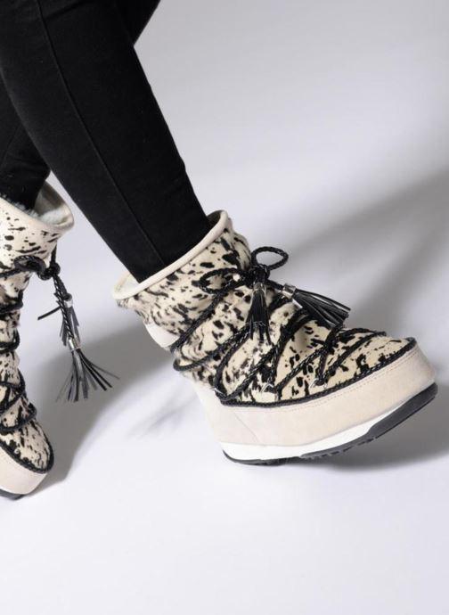 Bottines et boots Moon Boot Moon Boot Animal Blanc vue bas / vue portée sac