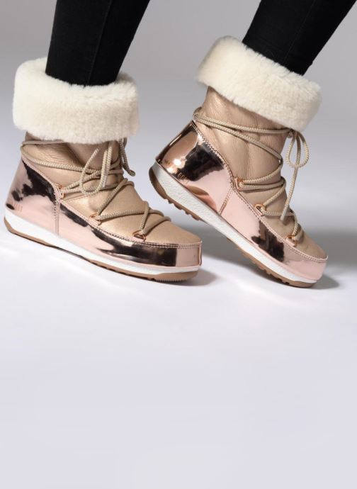 Ankle boots Moon Boot Moon Boot Rose Mirror Pink view from underneath / model view