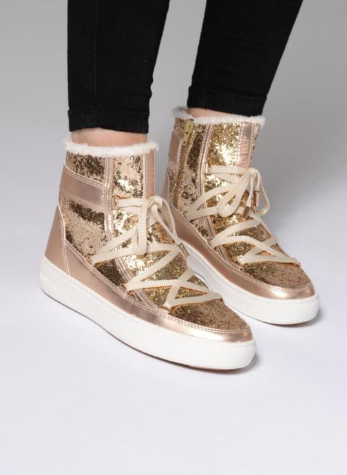 Ankle boots Moon Boot Moon Boot Pulse Z.Glitter Bronze and Gold view from underneath / model view