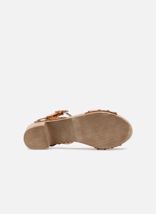 Sandales et nu-pieds Ippon Vintage Sok colors Marron vue haut