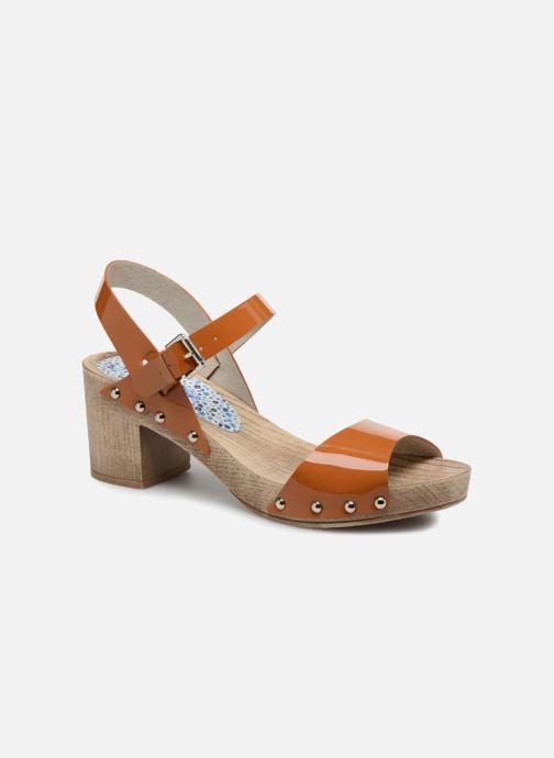 Sandales et nu-pieds Ippon Vintage Sok colors Marron vue détail/paire