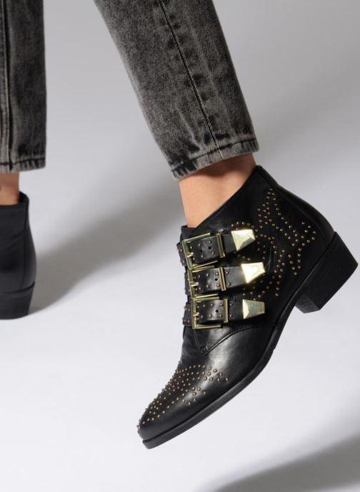 Bottines et boots Bronx Brezax 2 Noir vue bas / vue portée sac