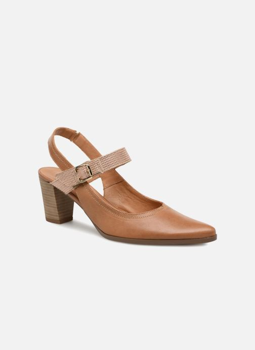 High heels Karston Kzoto Brown detailed view/ Pair view