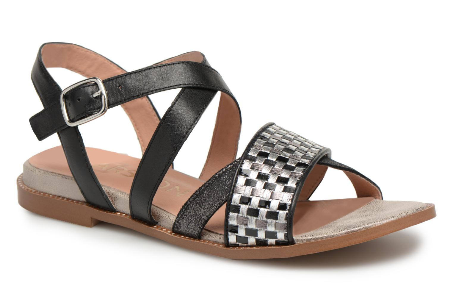 Sandals Karston Sodal Black detailed view/ Pair view