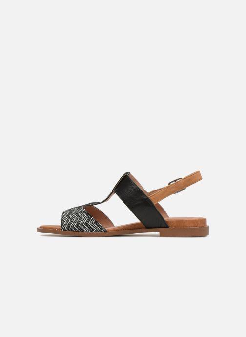 Sandales et nu-pieds Karston Soany Noir vue face