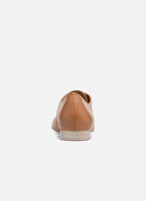 Zapatos con cordones Karston Joie Marrón vista lateral derecha