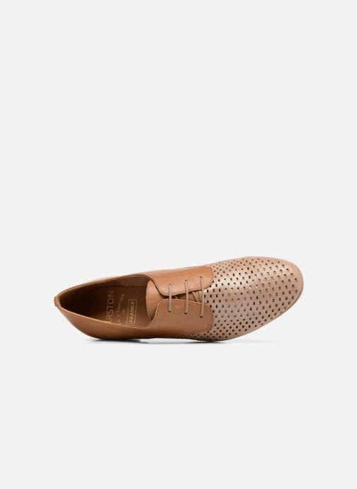 Zapatos con cordones Karston Joie Marrón vista lateral izquierda