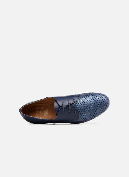 Zapatos con cordones Karston Joie Azul vista lateral izquierda