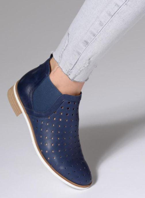 Bottines et boots Karston Jijou Bleu vue bas / vue portée sac