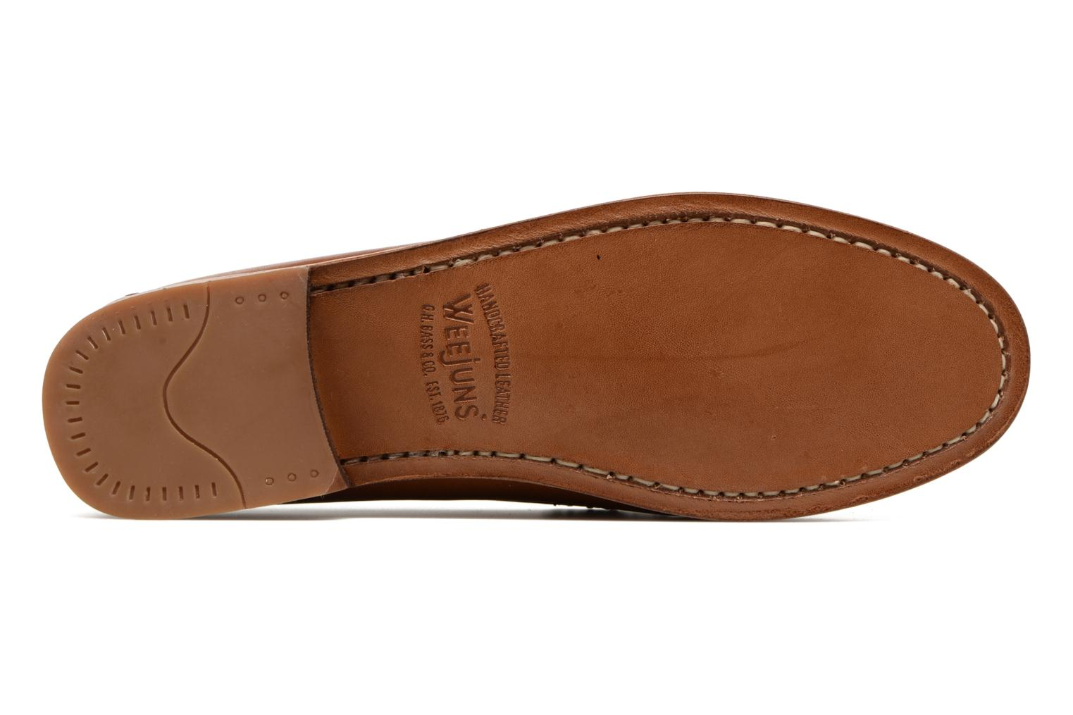 Loafers G.H. Bass WEEJUN WMN Penny Burnish Brown view from above