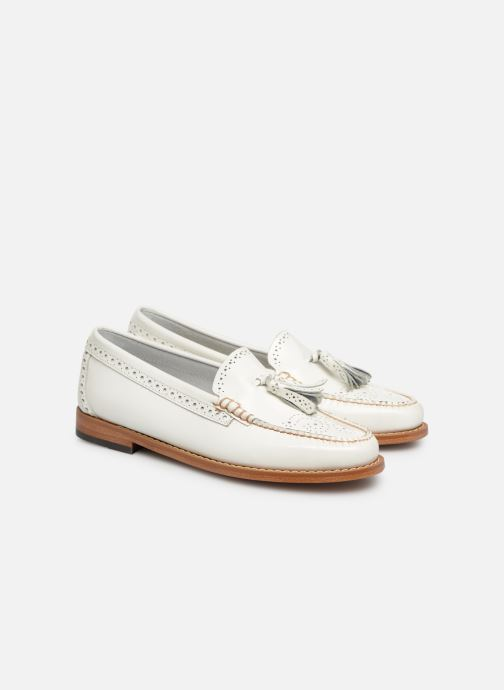 Loafers G.H. Bass WEEJUN WMN Estelle Brogue White 3/4 view