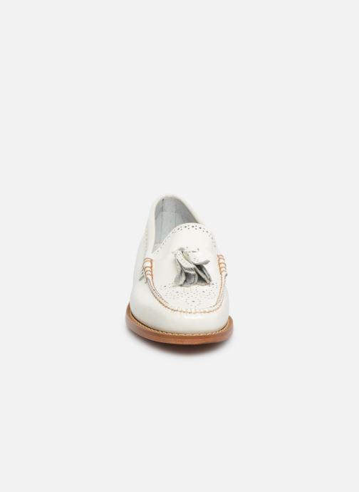 Mocassins G.H. Bass WEEJUN WMN Estelle Brogue Blanc vue portées chaussures
