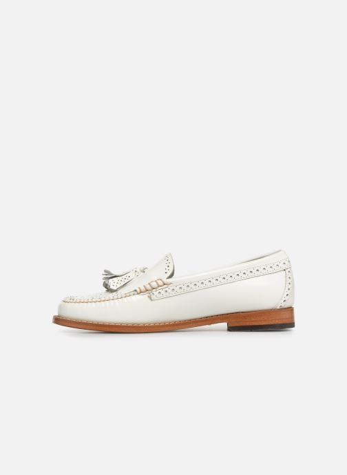Mocasines G.H. Bass WEEJUN WMN Estelle Brogue Blanco vista de frente