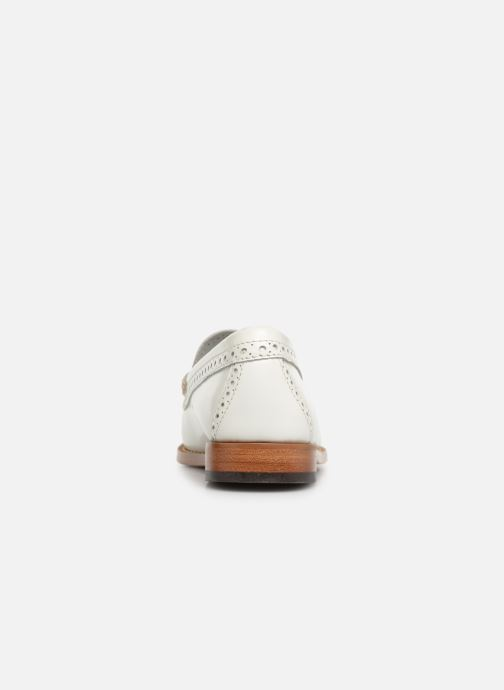 Mocasines G.H. Bass WEEJUN WMN Estelle Brogue Blanco vista lateral derecha