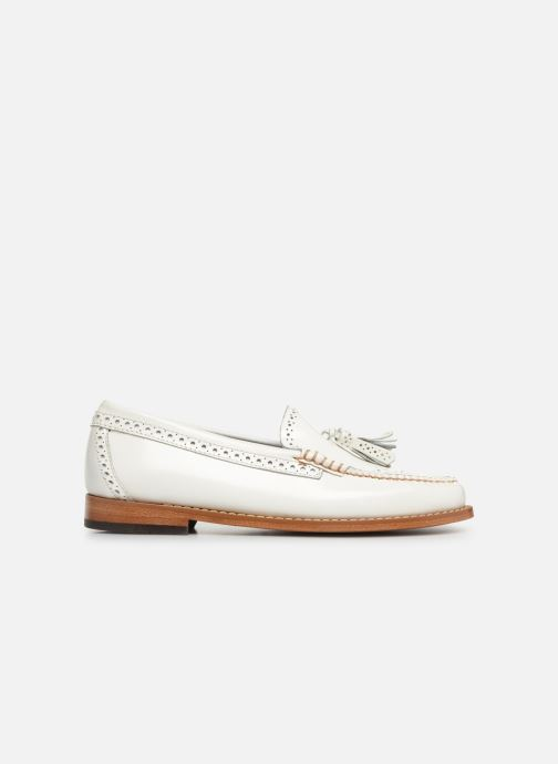 Mocasines G.H. Bass WEEJUN WMN Estelle Brogue Blanco vistra trasera