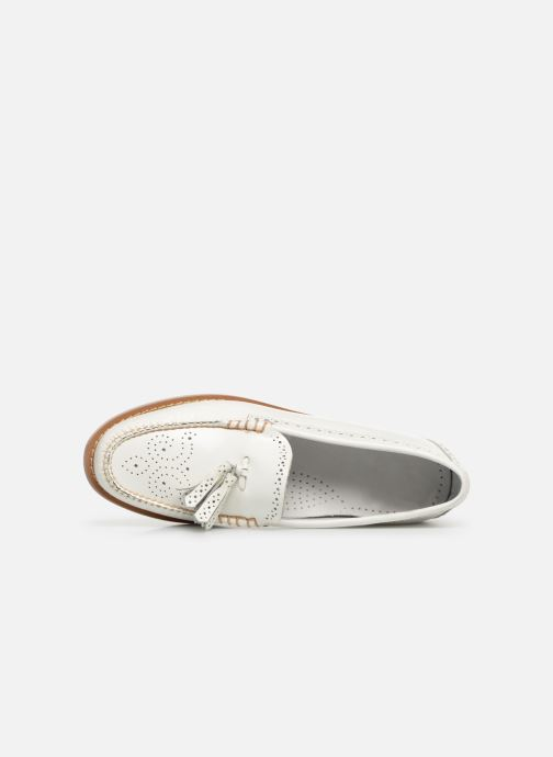 Loafers G.H. Bass WEEJUN WMN Estelle Brogue White view from the left