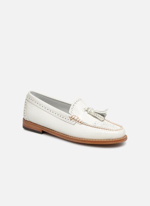 Mocasines G.H. Bass WEEJUN WMN Estelle Brogue Blanco vista de detalle / par
