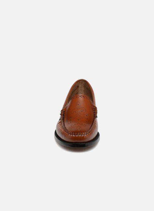Mocassins G.H. Bass WEEJUN WMN Lillian Brogue Marron vue portées chaussures