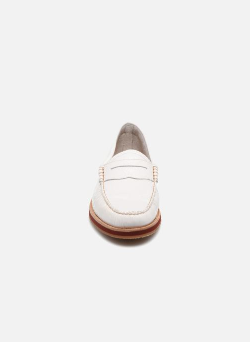 Mocassins G.H. Bass SPRING WEEJUN  Penny Wrinkle Blanc vue portées chaussures