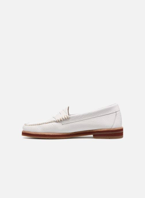 Mocassins G.H. Bass SPRING WEEJUN  Penny Wrinkle Blanc vue face