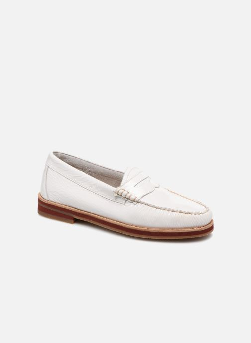 Mocassins G.H. Bass SPRING WEEJUN  Penny Wrinkle Blanc vue détail/paire