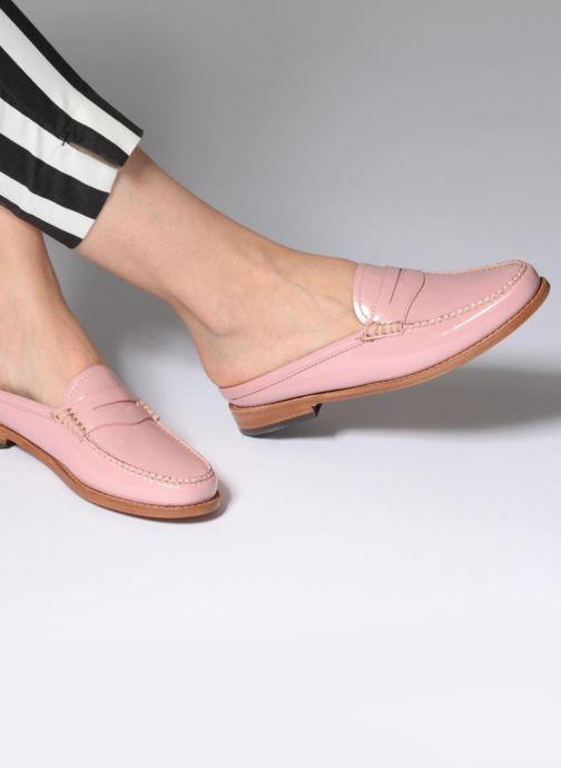 Slipper G.H. Bass WEEJUN WMN Penny Slide Wheel rosa ansicht von unten / tasche getragen