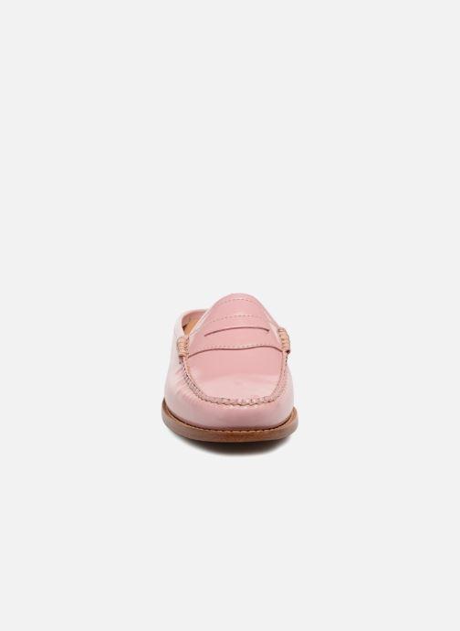 Mocassins G.H. Bass WEEJUN WMN Penny Slide Wheel Rose vue portées chaussures