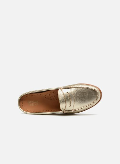 Mocassins G.H. Bass WEEJUN WMN Penny Slide Wheel Goud en brons links