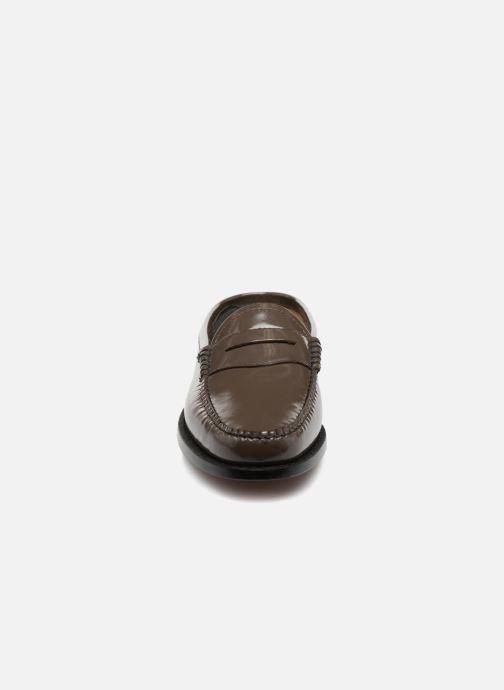 Mocassins G.H. Bass WEEJUN WMN Penny Slide Wheel Vert vue portées chaussures