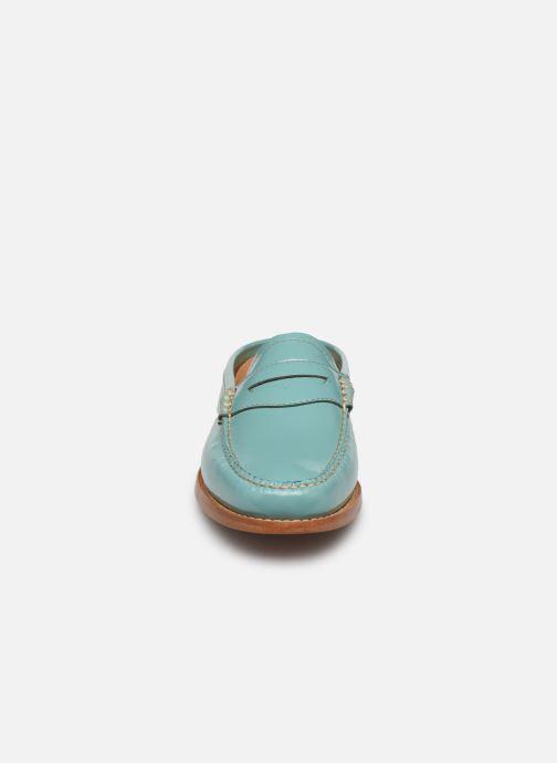 Mocassins G.H. Bass WEEJUN WMN Penny Slide Wheel Bleu vue portées chaussures