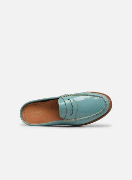 Loafers G.H. Bass WEEJUN WMN Penny Slide Wheel Blue view from the left