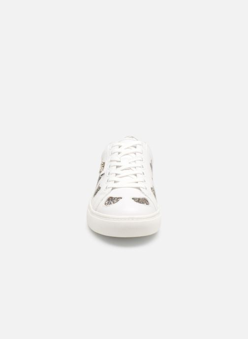 Baskets KARL LAGERFELD KUPSOLE Choupette Inlay Lace Blanc vue portées chaussures