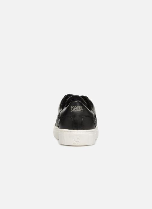 Baskets Karl Lagerfeld KUPSOLE Choupette Inlay Lace Noir vue droite