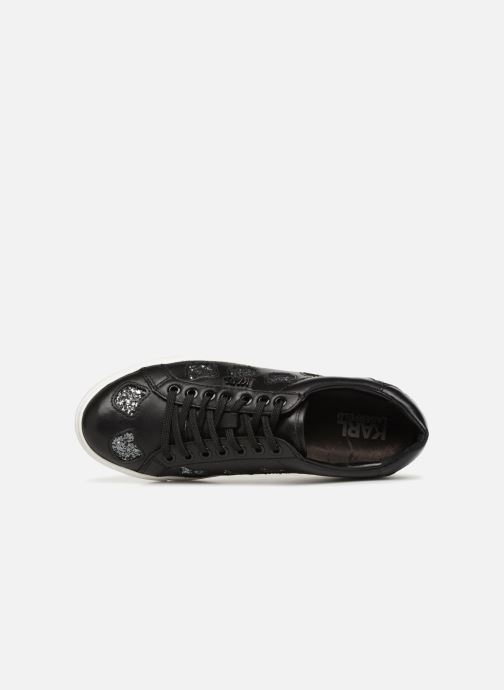 Baskets Karl Lagerfeld KUPSOLE Choupette Inlay Lace Noir vue gauche