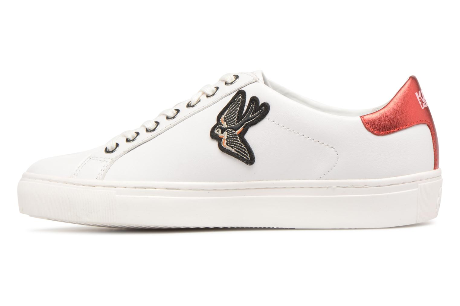 Trainers KARL LAGERFELD KUPSOLE Captain Karl Lace White front view