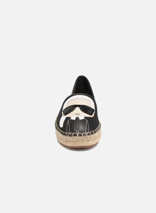 Espadrillos Karl Lagerfeld KAMINI Karl Ikonic Slip On Sort se skoene på