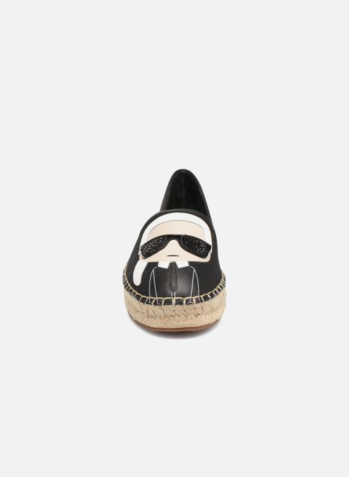 Espadrilles Karl Lagerfeld KAMINI Karl Ikonic Slip On Noir vue portées chaussures
