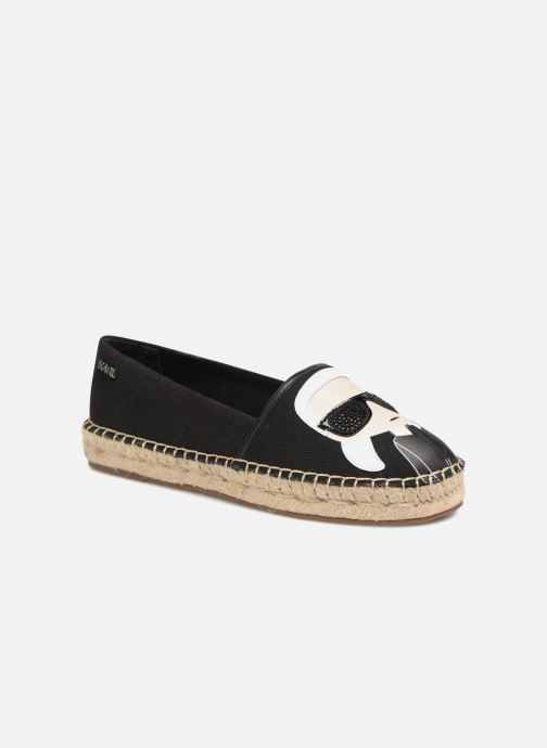 Espadrillos Karl Lagerfeld KAMINI Karl Ikonic Slip On Sort detaljeret billede af skoene