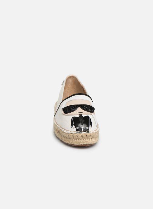 Scarpe di corda Karl Lagerfeld KAMINI Karl Ikonic Slip On Bianco modello indossato