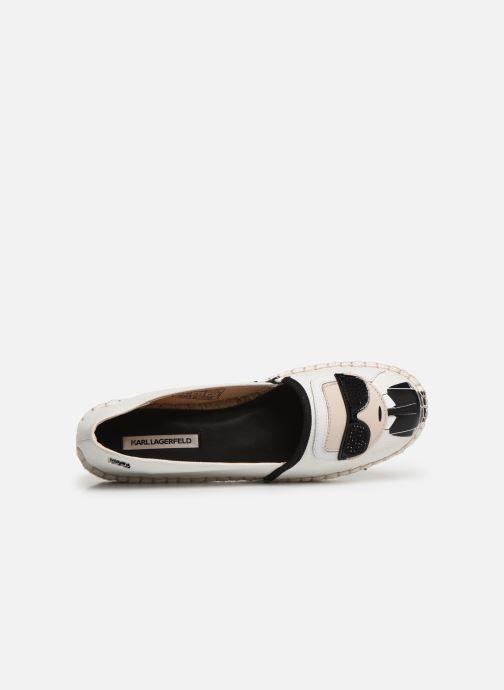 Scarpe di corda Karl Lagerfeld KAMINI Karl Ikonic Slip On Bianco immagine sinistra