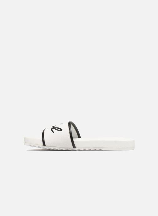 Drill Canvas Mules White Et Lagerfeld Sabots Black Karl Signature Kondo zpGjLqUVSM