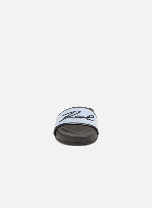 Mules et sabots Karl Lagerfeld KONDO Signature Drill Bleu vue portées chaussures