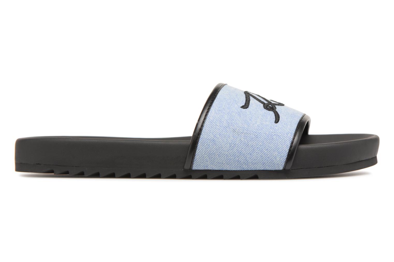 Mules & clogs KARL LAGERFELD KONDO Signature Drill Blue back view