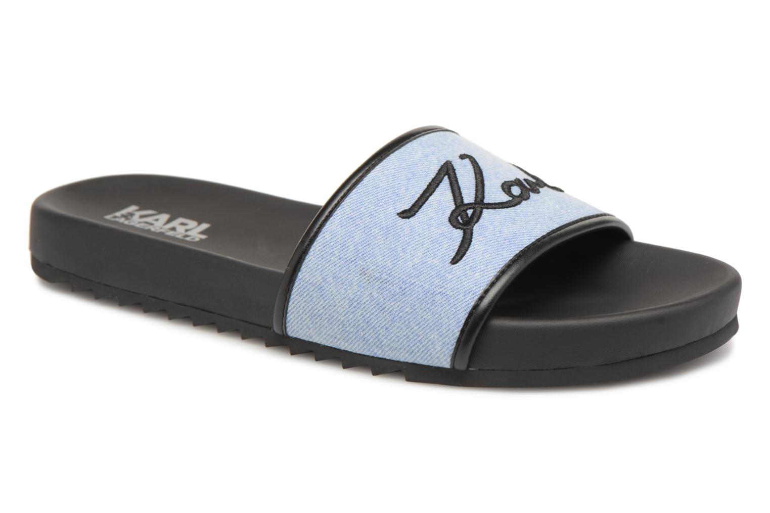 Mules & clogs KARL LAGERFELD KONDO Signature Drill Blue detailed view/ Pair view